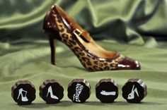5 Pcs Shoe Chocolates - Vanilla Sea Salt Caramels In 72% Dark Chocolate - (Box of 5) by Chouquette on Gourmly