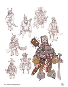 Warriors, character design for a short film