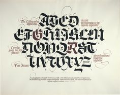 An example of how powerful contrast (letterforms, letter weight, size and color) can be.