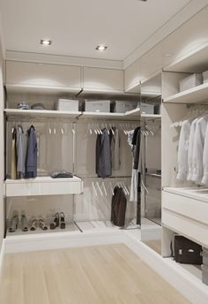 53 Elegant Closet Design Ideas For Your Home. Unique closet design ideas will definitely help you utilize your closet space appropriately. An ideal closet design is probably the only avenue towards go. Walk In Closet Design, Bedroom Closet Design, Master Bedroom Closet, Closet Designs, Closet Shelves, Closet Storage, Open Shelves, Corner Closet Organizer, Dressing Room Design