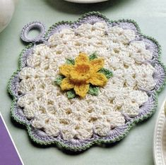 This is a single pattern clipped from a book or magazine.      Materials: Size 10 crochet cotton No. 1 steel hook.   Size: 6.5 inches across