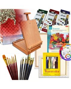 Artist Quality Table Easel with Complete Art Set Painting Supplies & More; Gift Edition
