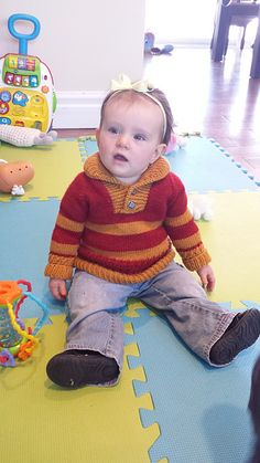 Ravelry: fan449's Boy Sweater Gryffindor knit in Simplinatural from HiKoo.  Boy Sweater by Lisa Chemery