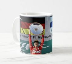 2017 F1 Sebastian Vettel Melbourne winner ceramic mug by ANYSIZEPRINTED on Etsy