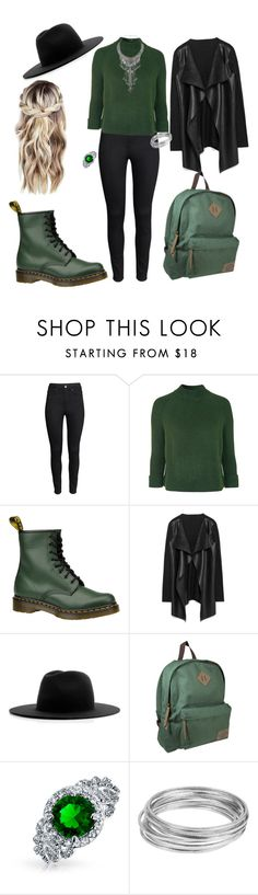 """""""school day as a slytherin"""" by mara-velisek on Polyvore featuring H&M, Topshop, Dr. Martens, Études, Dickies, Eye Candy, Bling Jewelry and Worthington"""