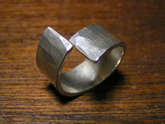 Sterling Silver Chunky Hammered Ring, starting at $20 in today's #Handmade Bazaar. Available in standby at 5PM PT.