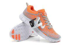 New Womens NIKE 5.0 Free Run Shoes Gray orange