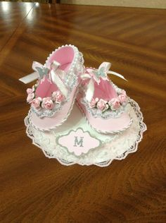 Card Candy Silver Metal Baby Boottee Embellishments