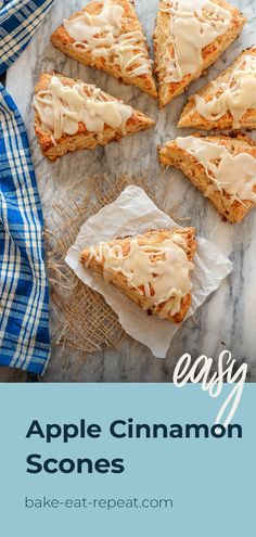 These fluffy apple cinnamon scones, filled with diced apple and mini cinnamon chips, are the perfect sweet treat for breakfast or a snack! #sconerecipe #applecinnamon #applerecipe Best Dessert Recipes, Apple Recipes, Fun Desserts, Fall Recipes, Appetizer Recipes, Sweet Recipes, Yummy Recipes, Apple Cinnamon Scones Recipe, Best Scone Recipe