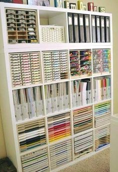 Craft Room Decorating Ideas Awesome Paper Craft Storage In Ikea Shelving – Decorating Ideas Craft Room Design, Craft Room Decor, Room Decor Bedroom, Diy Home Decor, Craft Room Tables, Dorm Room, Craft Room Storage, Craft Organization, Tool Storage