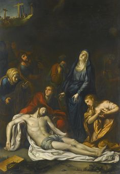 After Anton Raphael Mengs THE DEPOSITION OF CHRIST oil on canvas 116.6 by 81.9 cm.; 45 7/8  by 32 1/8  in.