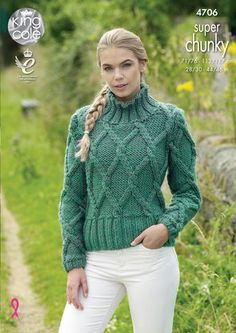 2eb38cf8c Sweater   Pullover Knitted with Big Value Super Chunky - King Cole Jumper Knitting  Pattern