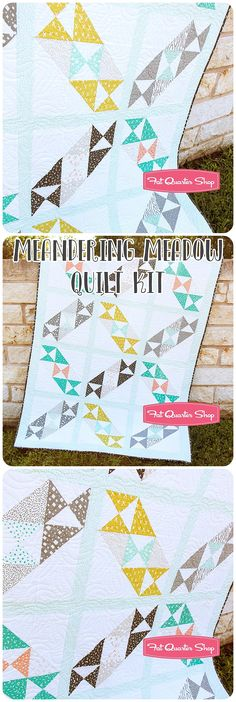 "Meandering Meadow Quilt Kit Featuring Savannah by Gingiber. Colorful meadow. Quilt kit includes the Meandering Meadow Quilt Pattern by It's Sew Emma and Savannah fabric for the 55.5"" x 72.5"" quilt top and binding. Affiliate link. If you make a purchase I may receive a commission. This does not effect your pricing."