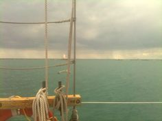 Out on Lake Michigan, listening to stories of pirates on the Great Lakes, sailing on the Good Ship Windy