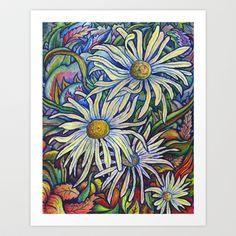 Wild Daisies ~ Autumn Breeze Art Print by Morgan Ralston - $16.00