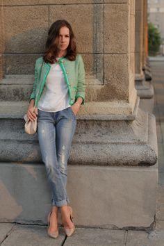 Modish Mood: Little mint jacket