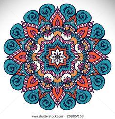 Stock Images similar to ID 103161836 - ornamental round floral pattern. Mandala Art, Mandala Canvas, Mandala Drawing, Mandala Pattern, Mandala Design, Tribal Patterns, Doodle Patterns, Mandala Wallpaper, African Crafts