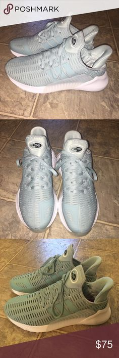 Tiffany blue Adidas climacool Brand new and never worn! Perfect condition. Size 6.5. Tiffany blue. I took pics with and without the flash so you can see how clean they are. Originally $125!!! Bundle with other items in my closet for a huge discount!! adidas Shoes Athletic Shoes