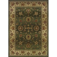 """The Conestoga Trading Co. Liam Green/Beige Area Rug Rug Size: Runner 2'7"""" x 9'1"""""""
