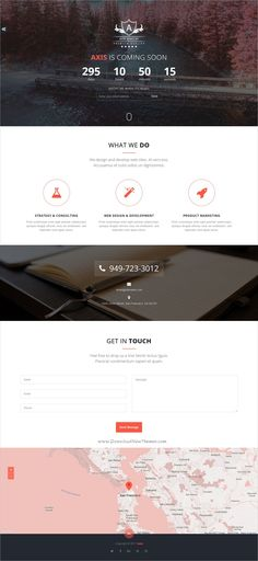 Buy Axis - Responsive Coming Soon Template by AthenaStudio on ThemeForest. Axis is a responsive minimal, business under construction / landing page / one page template. It includes Ajax MailCh. Web Design Trends, Web Design Inspiration, Design Web, Logo Design, Bootstrap Template, Page Template, Templates, Under Construction Website, Google Web Font