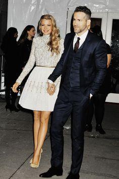 sebastijanstan:Blake Lively and Ryan Reynolds at the 2016 amfAR New York Gala