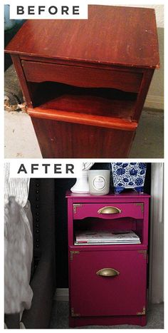 "Before-and-after: Design bloggers' painting projects done by  Ashlina Kaposta wo blogs as ""the Decorista"""