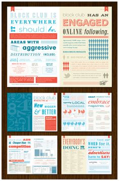 Awesome branding and print design. Love the color choices.