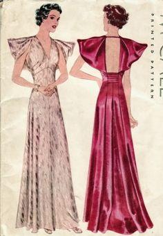 McCall Pattern #9043 ~ Ruffle Sleeve Dress, 1936
