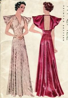 1930s McCall 9043 evening gown pattern