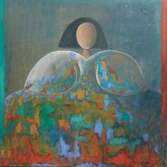 María Micaela Óleo sobre lienzo. 100 x 100 cm.