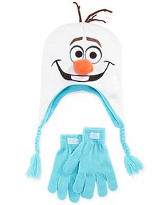Disney Girls  or Little Girls  Frozen Olaf Hat   Gloves Set Kids - Macy s 5e2c1f6d7375
