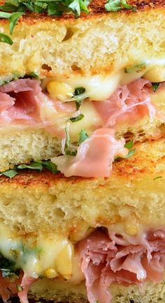 Cake And Food Recipe: Italian Garlic Bread Grilled Cheese Salami Sandwich, Sandwich Bar, Soup And Sandwich, Grilled Sandwich Ideas, Sausage Sandwiches, Steak Sandwiches, Think Food, Love Food, Sloppy Joe