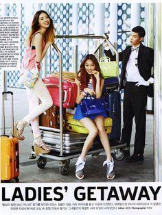Irene Kim, Go Sohyeon and Seo Hong Seok by Lee Soojin for Ceci July 2013