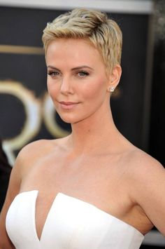 20 Most Delightful Pixie Cut for Round Face Ideas ! charlize theron pixie haircut Related Short Curly Hairstyles for Best Inspirational Gorgeous Short Hairstyles For Fine Hair 2019 - Page 59 of 6270 Cute All Time Short Pixie Haircuts For Women Fine Hair Styles For Women, Short Hair Cuts For Women, Short Hairstyles For Women, Diy Hairstyles, Curly Hair Styles, Hairstyle Ideas, Classy Hairstyles, Hairstyles Pictures, Blonde Hairstyles