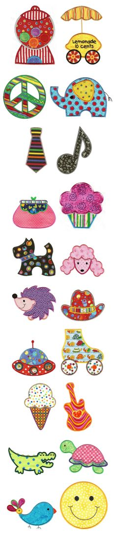 Designs by JuJu Just for Fun Applique machine embroidery designs