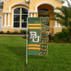 #Baylor Bears Cut-Out Applique Garden Flag - Green