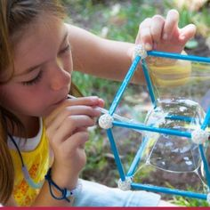 Sick Science! Summer Camp blowing square bubbles