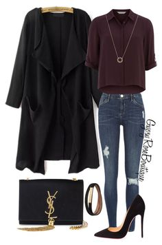 """""""#266"""" by gypsyroseboutique on Polyvore featuring River Island, Dorothy Perkins, Burberry, Christian Louboutin, Yves Saint Laurent, House of Harlow 1960, women's clothing, women, female and woman"""