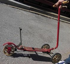 SCOOTER NEEDS A REAR WHELL REPLACEMENT. CIRCA 1970'S. WE ARE LOCATED AT 701 WEST MAPLE, NICHOLASVILLE KENTUCKY 40356. Make Supersized Seem Small. RED IN COLOR. OTHER THAN THAT IT APPEARS READY TO GO. | eBay!