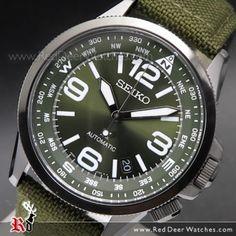 Seiko Prospex Land Automatic Nylon Compass Watch SRPC33K1, SRPC33 Mens Dress Watches, Mens Sport Watches, Seiko 5 Sports Automatic, Automatic Watch, Cool Watches, Watches For Men, Seiko Alpinist, Seiko Solar, Seiko Presage