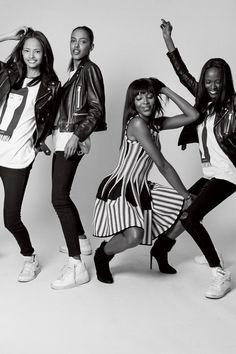 Malaika Firth, Alewya Demmisse, Naomi Campbell and Riley Montana - Bruce Weber - September 2014 issue