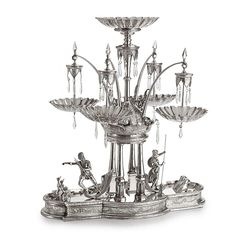 The Neptune Epergne: A monumental American silver-plated centerpiece, Meriden Britannia Co.