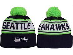 764b00cf336 2017 Winter NFL Fashion Beanie Sports Fans Knit hat Seattle Seahawks Hat