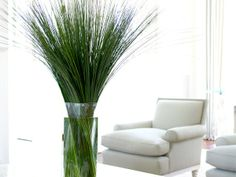 Greenery Modern Glass Cube Vase