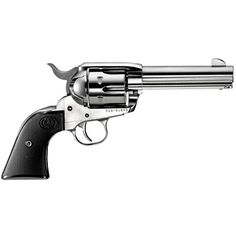 Ruger New Vaquero Single Action Revolver .357 Magnum 4.62 Barrel 6 Rounds Black Checkered Grips High Gloss Stainless Finish 5109