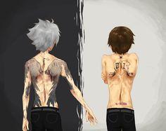 17th Angel - A Kaworu Nagisa Shrine, carrionboy: pasty-ass pilot boys, tattoo. Evangelion. Shinji