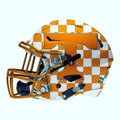 """Switching gears back to NCAA football for a minute check out the latest addition to Helmetsoul's University of Tennessee series- the new """"End Zone"""" alternate Helmet."""