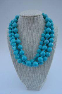 Turquoise gemstone multi strand necklace by kellidesignsonline, $58.00