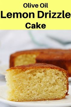This soft moist cake is made with olive oil instead of butter. It's topped with a light sugary drizzle which gives the top a slight crunch as well as a zesty flavour. It's a great lemon cake recipe for afternoon tea a snack or dessert. Cake Recipes With Oil, Delicious Cake Recipes, Homemade Cake Recipes, Cupcake Recipes, Yummy Cakes, Dessert Recipes, Healthy Lemon Cake Recipe, Delicious Cupcakes, Muffin Recipes