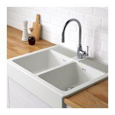 DOMSJ Zlew Dwukomorowy  IKEA  Apron Front Kitchen SinkKITCHEN  Ikea Apron Sink E92
